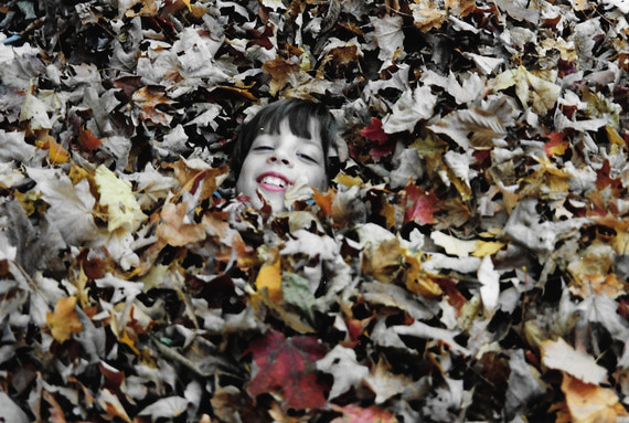 Bryan at six in leaves