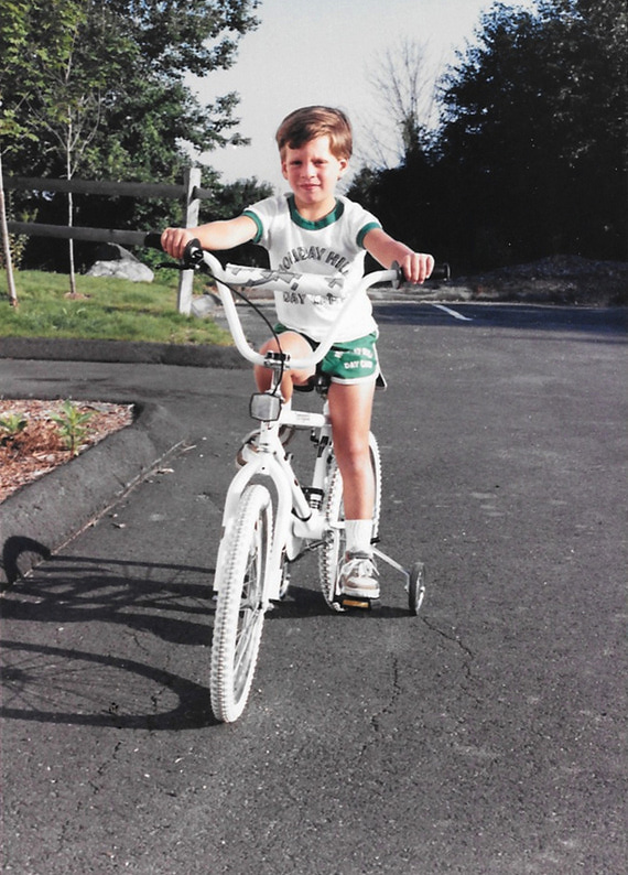 Bryans first bike 5 years old