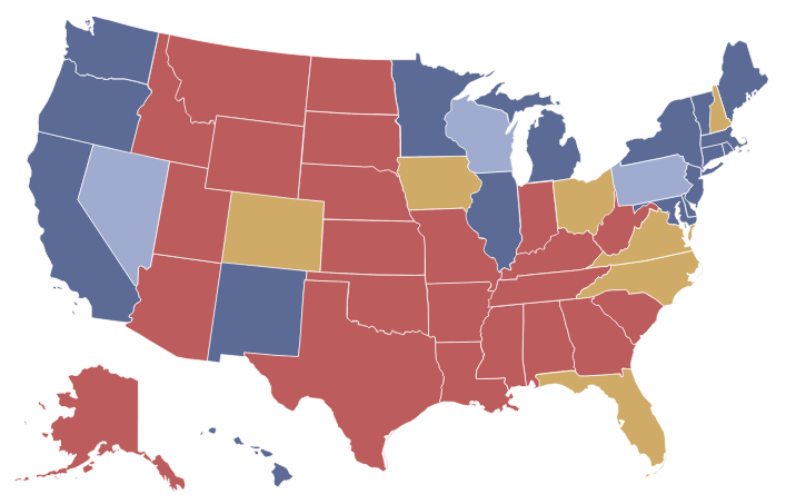 Obama Vs Romney Electoral Map - Us election map 20112