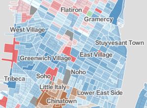 New York City Mayor - Democratic Primary Map